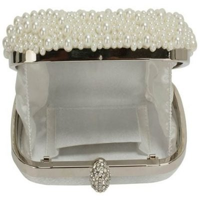 Beaded Pearl Rhinestone Clutch Bag