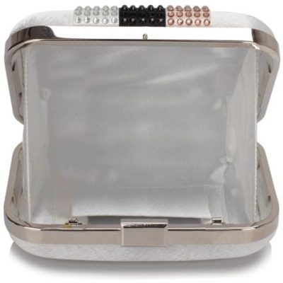 Mesh Metallic Box Clutch Bag