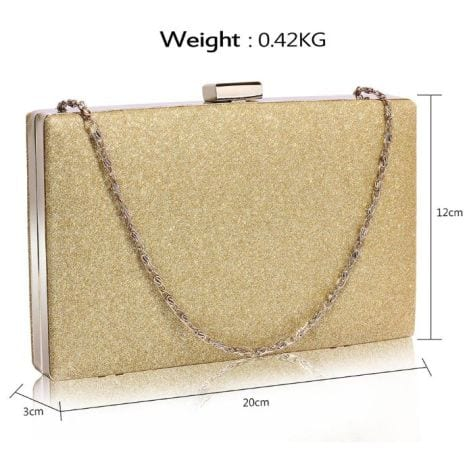 Glittering Gold Clutch Bag