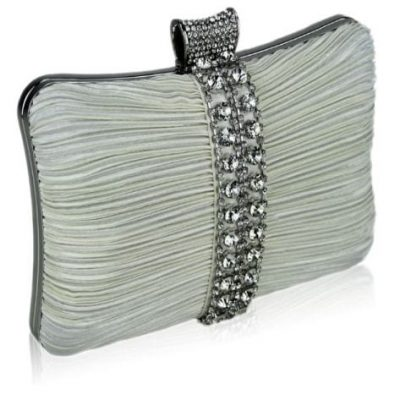 Crystal Strip Clutch Evening Bag