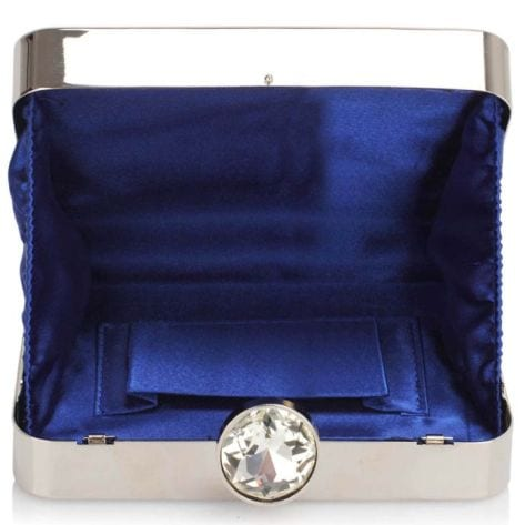 Ornarte blue & silver evening clutch bag.