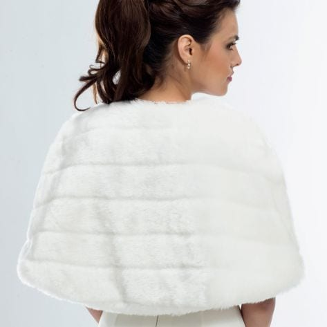 Chic cape made with lucious soft faux fur.