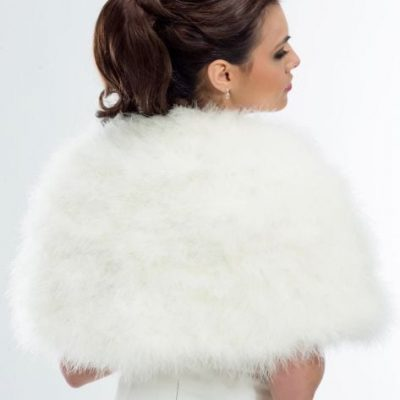 Eye catching cape made with exquisite marabou feathers.