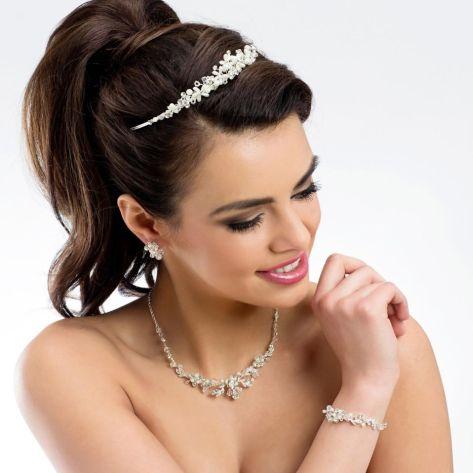 Three piece set to include classical necklace, earrings and bracelet.