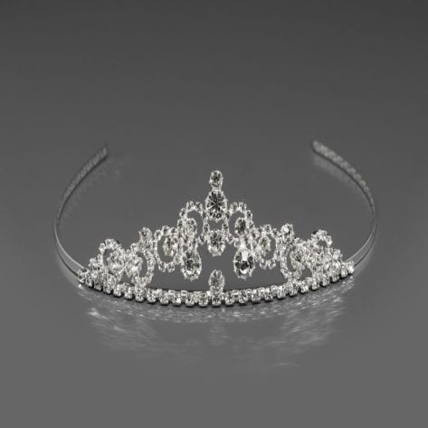 Exquisite tiara studded with rhinestones and crystals