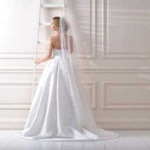 Hand made veil 82 inches in length, approx floor length.