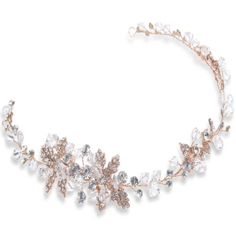 Rose Gold Hairvine With Crystals